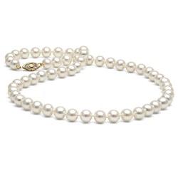 Collier de perles d'Eau Douce Blanches 6 à 7 mm 45 cm