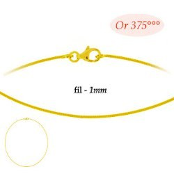 Cable Or Jaune 9 carats 42 cm  Ø: 1 mm