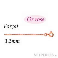 Chaine Or Rose 18 carats de 40 cm Ø:1,3 mm 2,3gr