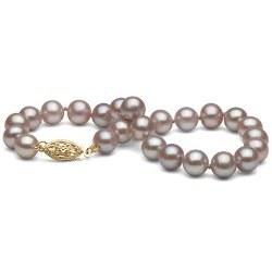 Bracelet de perles d'eau douce lavandes 6 à 7 mm