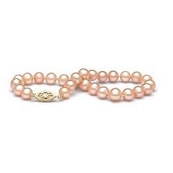 Bracelet de perles d'eau douce pêches 6 à 7 mm
