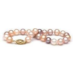 Bracelet de perles d'eau douce multicolor 6 à 7 mm