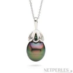 Pendentif en Or 14 carats avec Perle Baroque de Tahiti