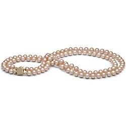 Collier Double Rang de perles d'eau douce 6 à 7 mm DOUCEHADAMA pêche 43/45 cm