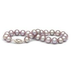 Bracelet de perles d'eau douce Lavandes 7 à 8 mm