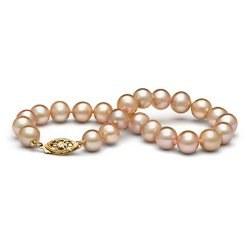 Bracelet de perles d'eau douce Pêches 7 à 8 mm