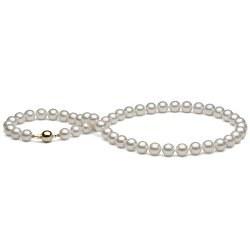 Collier sur mesure 43 cm de perles d'Akoya 8 à 8,5 mm blanches Perles du Japon