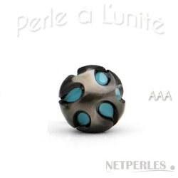 Perle de Tahiti avec nucleon Turquoise 9-10 mm AAA