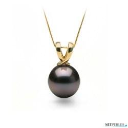 Pendentif Or 18k perle de culture de Tahiti qualité AA+ ou AAA à partir de 8 à 9 mm