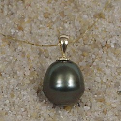 Pendentif Perle Baroque de Tahiti (gros diamètre)