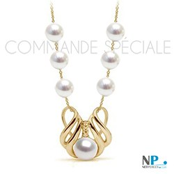 Collier or avec perles Akoya