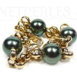 Bracelet en perles de Tahiti sur maille Jaseron Or 18 carats