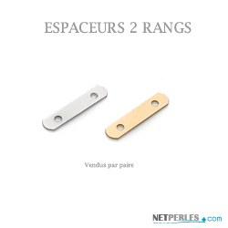 Espaceurs 2 rangs en Or pour collier ou bracelets