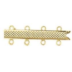 Fermoir spécial pour 4 rangs de perles Or Jaune 18k