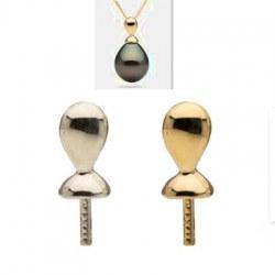 Belière Lacrima en or 14 carats pour perle de culture semi percée