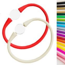 Bracelet en silicone vendu seul sans la perle, taille unique