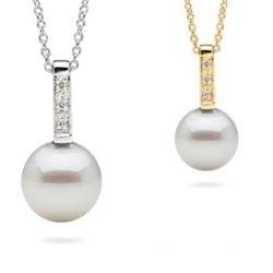 Pendentif Or gris ou Jaune et perle de culture d'Eau Douce Doucehadama