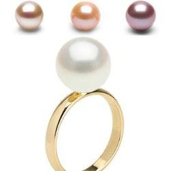 Bague Or 14k avec perle de culture d'eau douce Qualité Doucehadama
