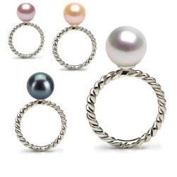 Bague Argent 925 avec perle d'Eau Douce qualité AAA