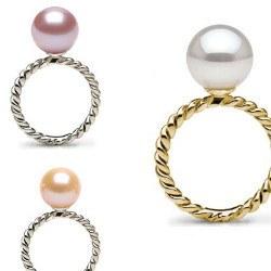 Bague Or 9k avec perle d'Eau Douce DOUCEHADAMA