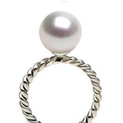 Bague Argent 925 avec perle d'Eau Douce DOUCEHADAMA