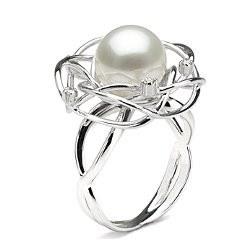 Bague Or 18k avec perle de culture d'Australie Blanche 10-11 mm AAA