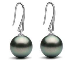 Boucles d'oreilles en Or 9 carats et perles de culture de Tahiti