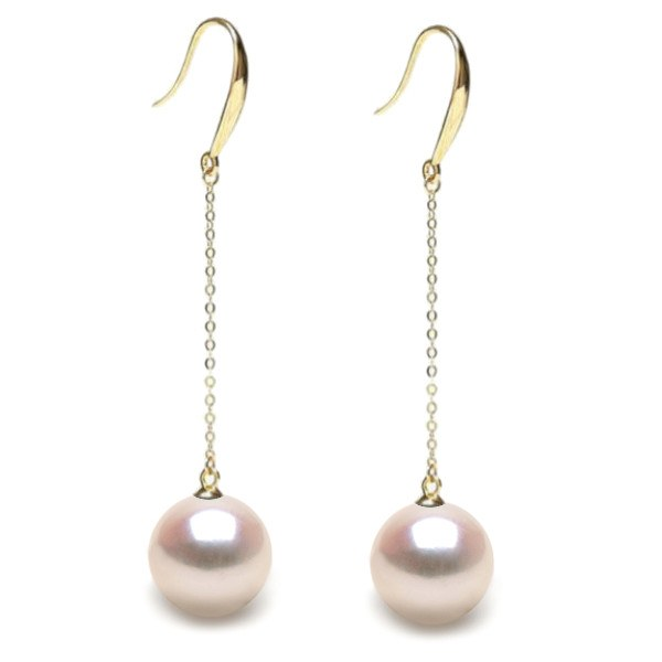 Boucles d'Oreilles Or 18k de Perles de culture d'Akoya AAA