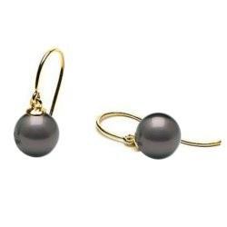 Boucles d'Oreilles de Perles de Tahiti en Or 18k