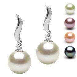 Boucles d'Oreilles Argent 925 de Perles d' Eau Douce AAA