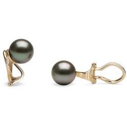 Boucles d'oreilles à clips avec perles de Tahiti en Or 14 ou 18 carats