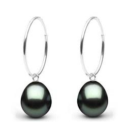 Boucles d'oreilles en Argent 925 perles de Tahiti Goutte