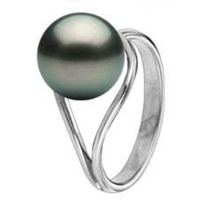 Bague Or 18k perle de Tahiti de 9-10 mm