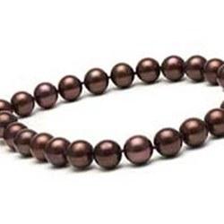 Collier de perles de culture d'Eau Douce Chocolat 10,5-11,5 mm
