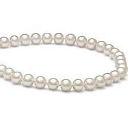 Collier de perles d'Eau Douce Blanches 6 à 7 mm 40 cm
