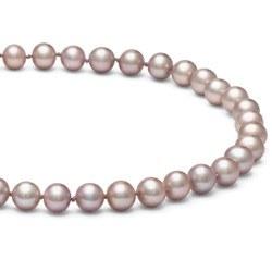Collier de perles d'eau douce lavandes 6 à 7 mm 55 cm