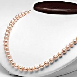 Collier 45 cm de perles d'eau douce de 7 à 8 mm Pêche