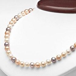 Collier 45 cm de perles d'eau douce 7 à 8 mm multicolores