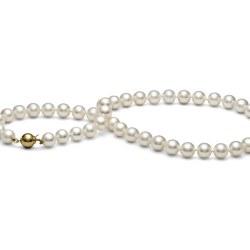 Collier 45 cm de perles de culture d'Eau Douce de 8-9 mm Blanches