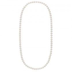 Long collier de perles d'Eau Douce de 9 à 10 mm Blanches 70 cm
