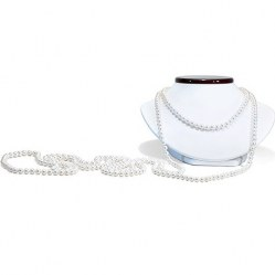 Long collier de 305 cm de perles de culture d'Eau Douce 8-9 mm