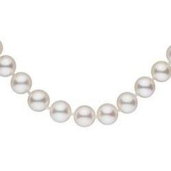 Collier 40 cm de perles de culture d'Eau Douce de 8-9 mm Blanches
