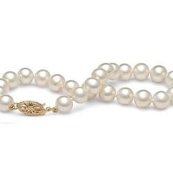 Bracelet de perles d'eau douce blanches 6 à 7 mm