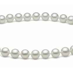 Collier 50 cm de perles d'Eau Douce de 6 à 7 mm Blanches DOUCEHADAMA