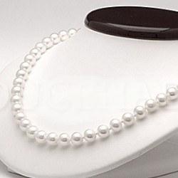 Collier 45 cm de perles de culture d'Eau Douce de 6 à 7 mm Blanches DOUCEHADAMA