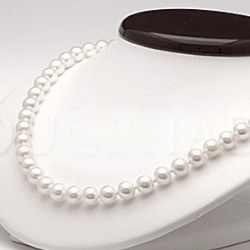 Collier 45 cm de perles de culture d'Eau Douce de 6 à 7 mm Blanches DOUCEHADAMA
