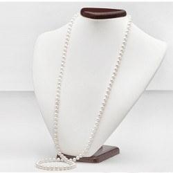 Long Collier de perles d'eau douce 90 cm 7 à 8 mm DOUCEHADAMA