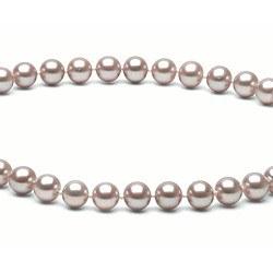 Collier 40 cm de perles d'Eau Douce de 6 à 7 mm Lavande DOUCEHADAMA