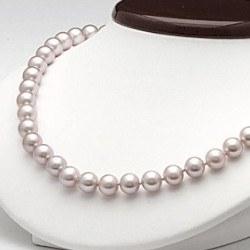 Collier 45 cm de perles d'Eau Douce de 6 à 7 mm Lavande DOUCEHADAMA