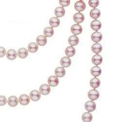 Long Collier de 130 cm perles d'eau douce lavandes 6 à 7 mm DOUCEHADAMA